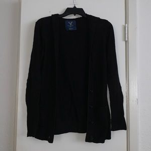 American Eagle Black Cardigan Sweater - Medium